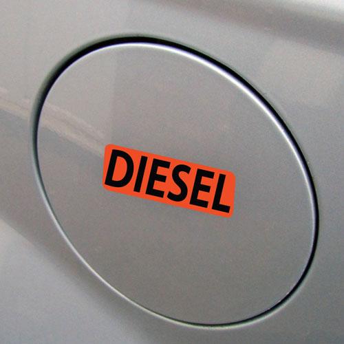 3x Diesel Fuel Only Layered Vinyl Stickers / Decals Orange & Black Color