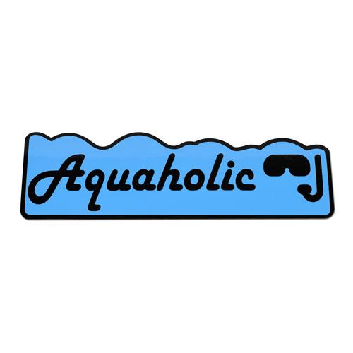 Aquaholic Funny Layered Vinyl Sticker / Decal Blue & Black Color
