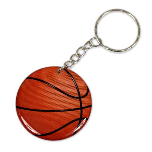 Basketball Ball Pendant Keychain Key Chain Keyring Key Ring Double Sided