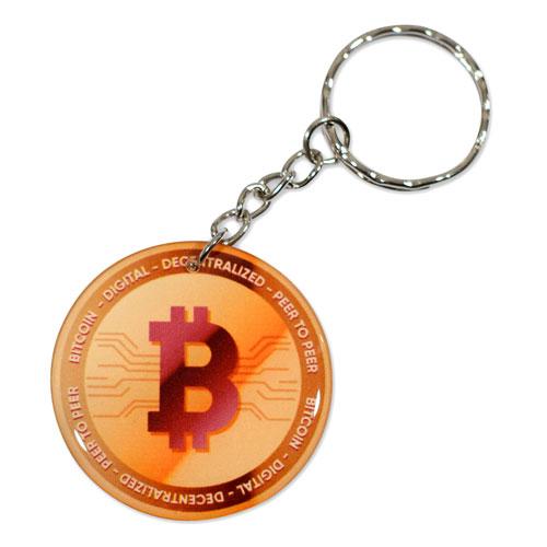 Bitcoin Pendant Peer To Peer Keychain Key Chain Keyring Key Ring Double Sided