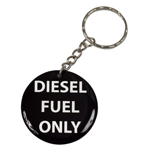 Diesel Fuel Only Reminder Keychain Round Key Chain Keyring Key Ring Double Sided