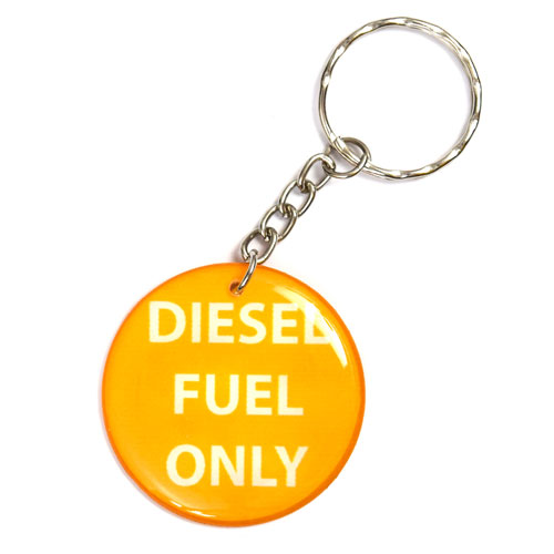 Diesel Fuel Only Pendant Keychain Key Chain Keyring Key Ring Double Sided Yellow