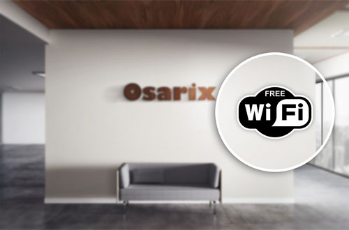 Free WiFi Sign Layered Vinyl Sticker / Decal Black & White Color