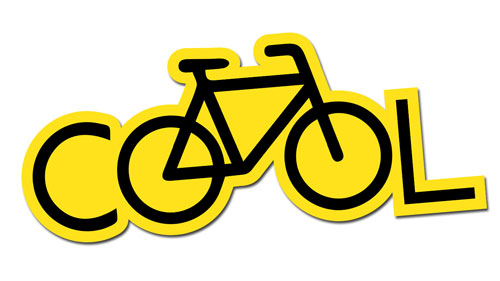 Cool Bicycle Cycling Layered Vinyl Sticker / Decal Yellow & Black Color