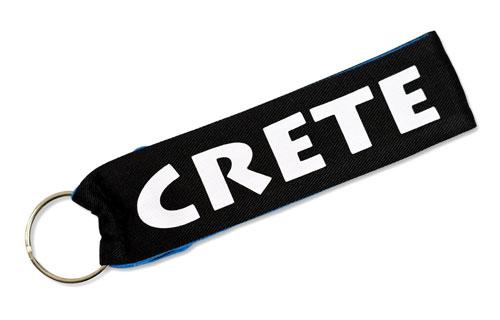 Crete Greek Island Greece Fabric Wristlet Keychain Cloth Key Fob KeyFob Souvenir