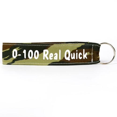 0-100 Real Quick Wristlet Key Fob Fabric Keychain Cloth KeyFob Army Pattern