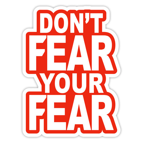 Don't Fear your Fear Layered Vinyl Sticker Quote Decal Never Fade White & Red Color