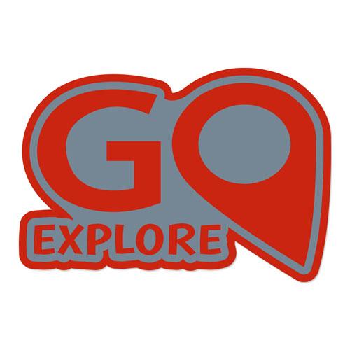 Go Explore Layered Vinyl Sticker Travel Adventure Decal Never Fade