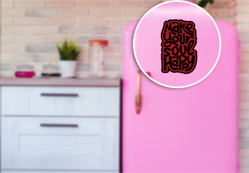 Make Your Soul Happy Layered Vinyl Sticker Quote Decal Indoor & Outdoor Use