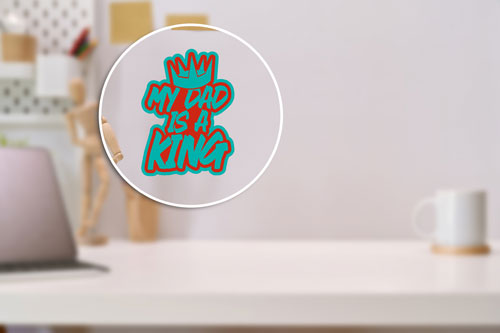 My Dad Is A King Layered Vinyl Sticker Crown Decal Indoor-Outdoor Use