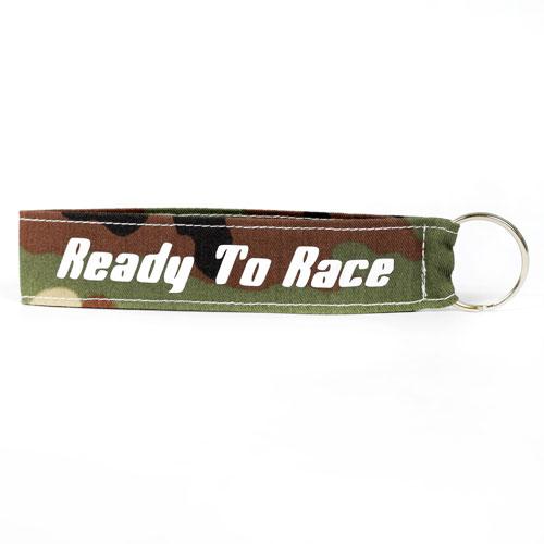 Ready To Race Wristlet Key Fob Fabric Keychain KeyFob Army Military Pattern