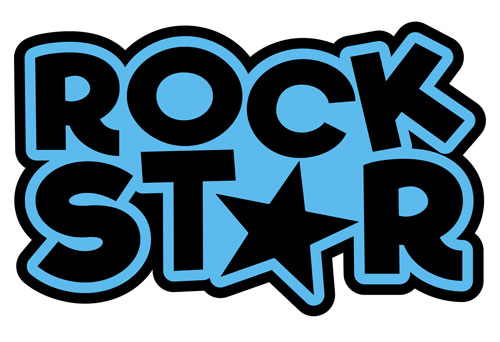 Rock Star Layered Vinyl Sticker Never Fade Decal Indoor & Outdoor Use
